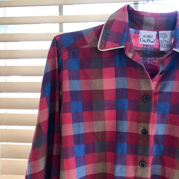 329ff7a2 Vintage Tops | Koret City Blues 70s Plaid Shirt | Poshmark